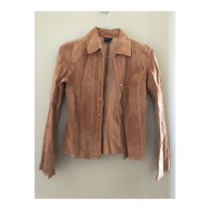 Vintage Wet Seal suede leather tan jacket size XS